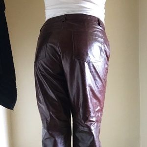 Gap brown leather pants